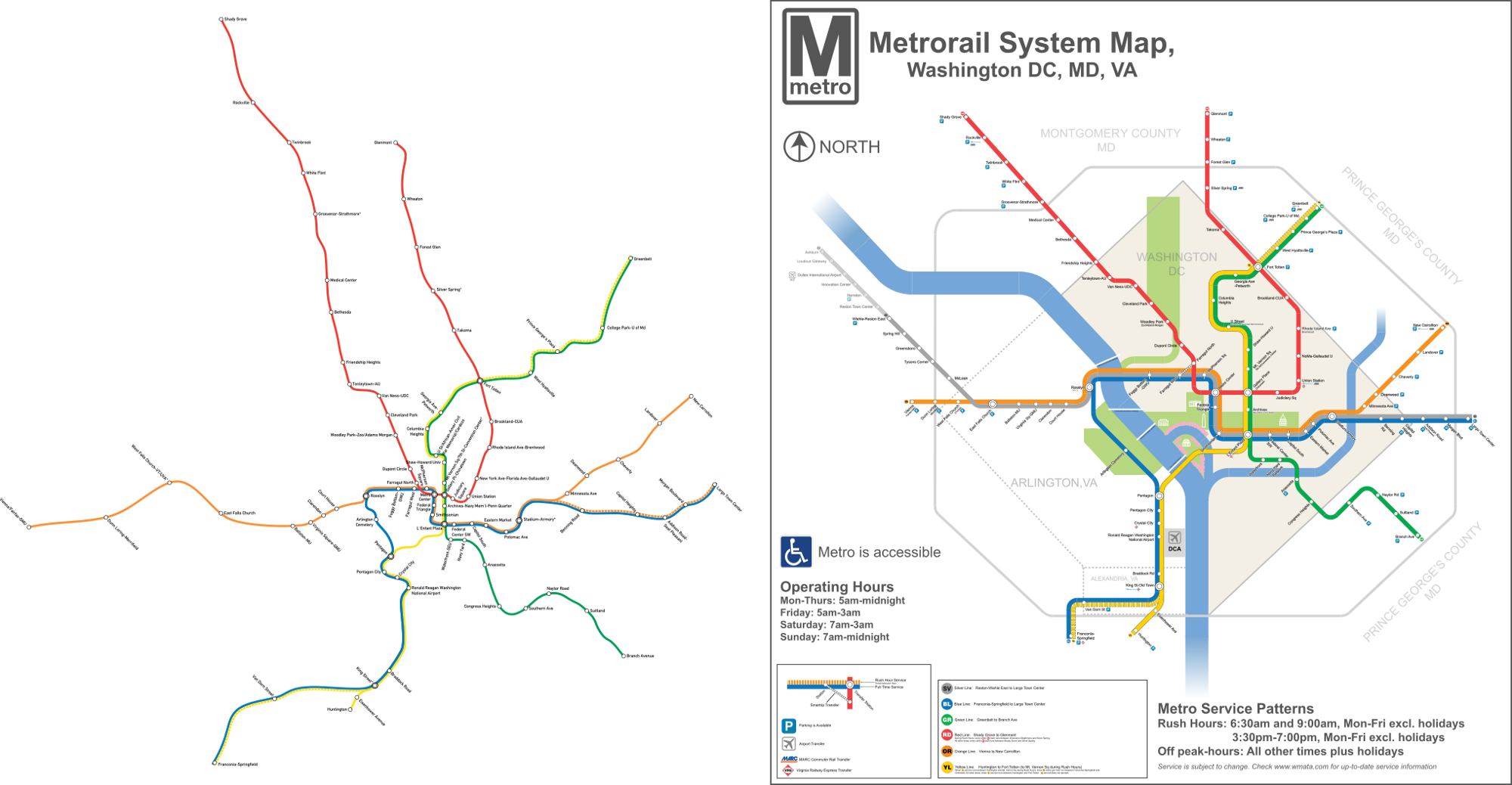 A Map Of The Expanded Washington DC Metro Made By Reddit User Map - Washington dc ferry map