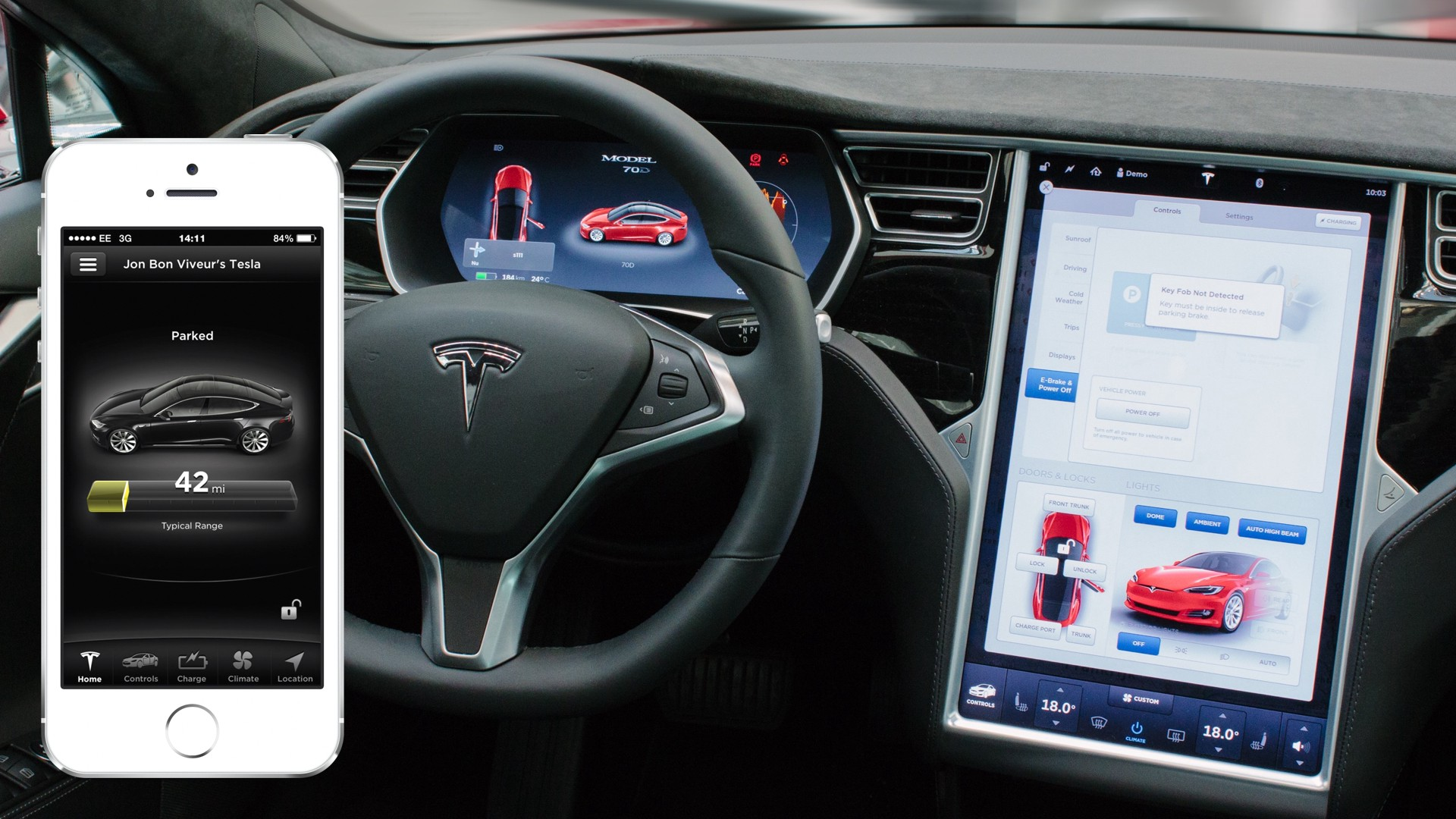What We Learned Designing A Car User Experience Ui Medium La Detailed Auto Topics Tips On Automotive Electrical Testing The Mobile App Steering Wheel Controlling Instrument Cluster And Button For Voice Commands Main Computer Unit Right
