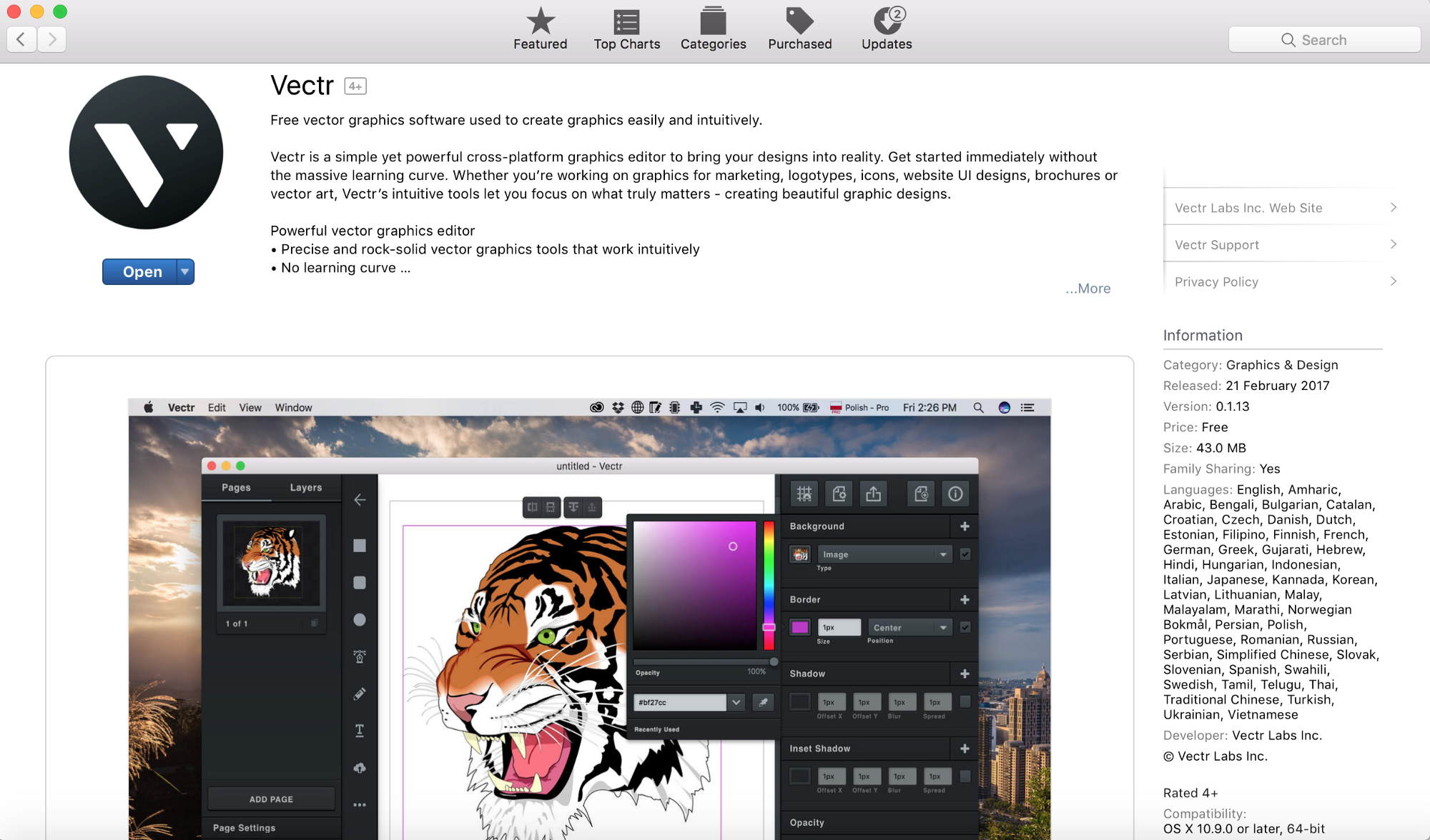 vectr free vector graphics software now mac app store