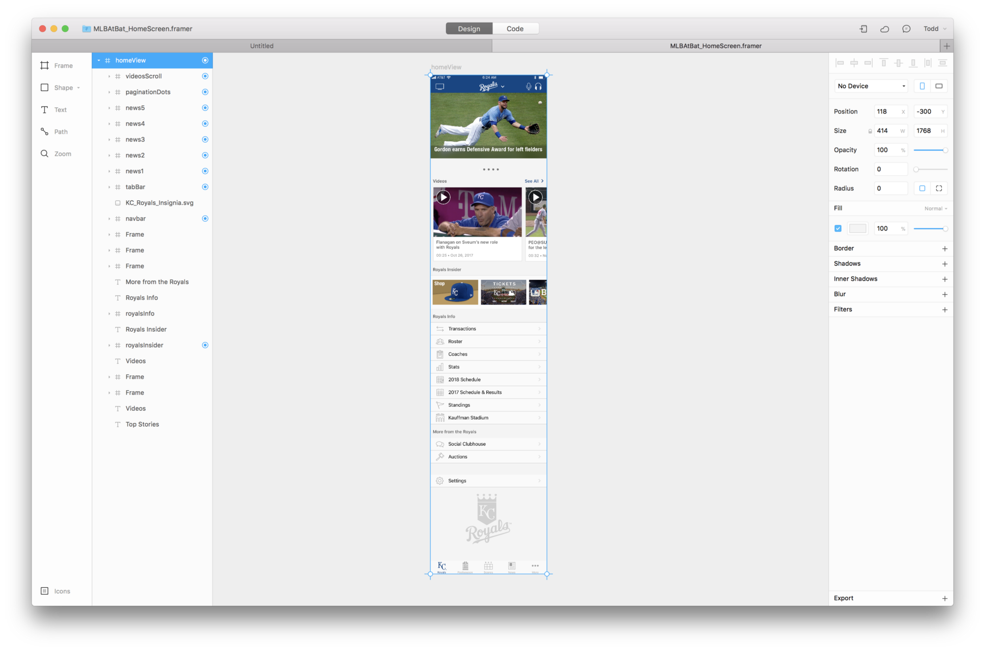 Using Framer to Prototype Scrolling and Paging in MLB AtBat for iOS