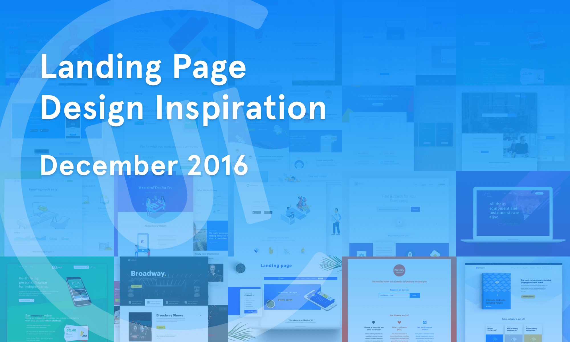 Landing Page Inspiration — December 2016 – Collect UI Design, UI ...