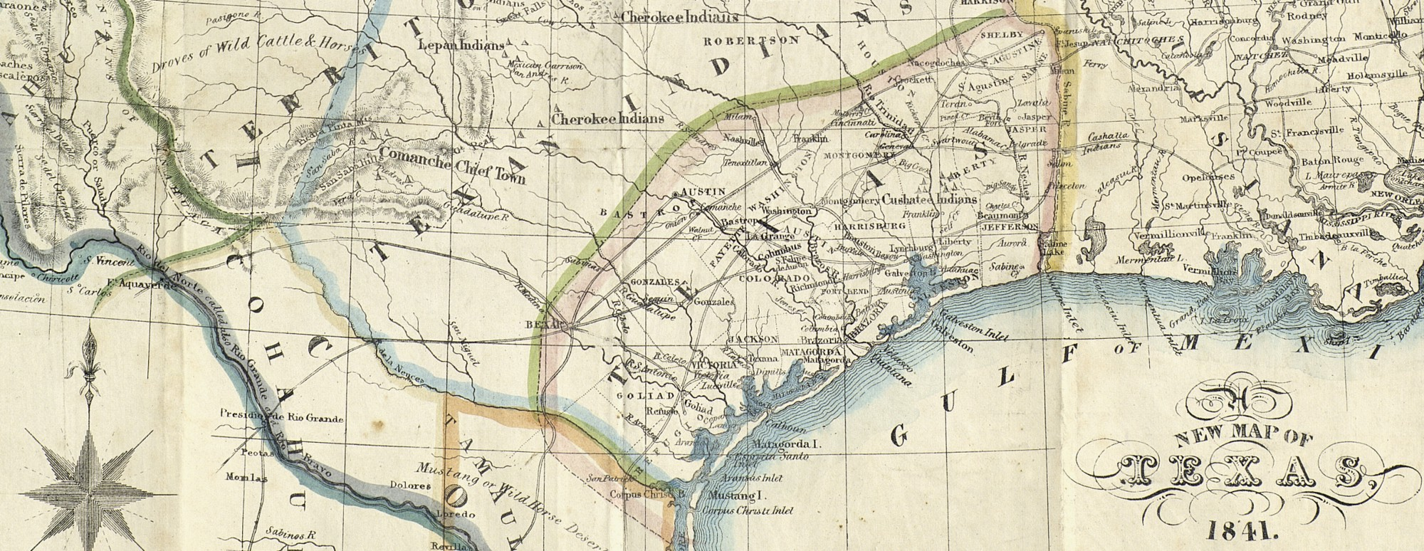 A new map of texas 1841 save texas history medium nicholas doran maillard a new map of texas new york day haghe 1841 map 93862 frank and carol holcomb map collection archives and records program gumiabroncs Gallery