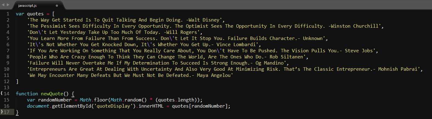 How to build a random quote generator with JavaScript and HTML, for ...