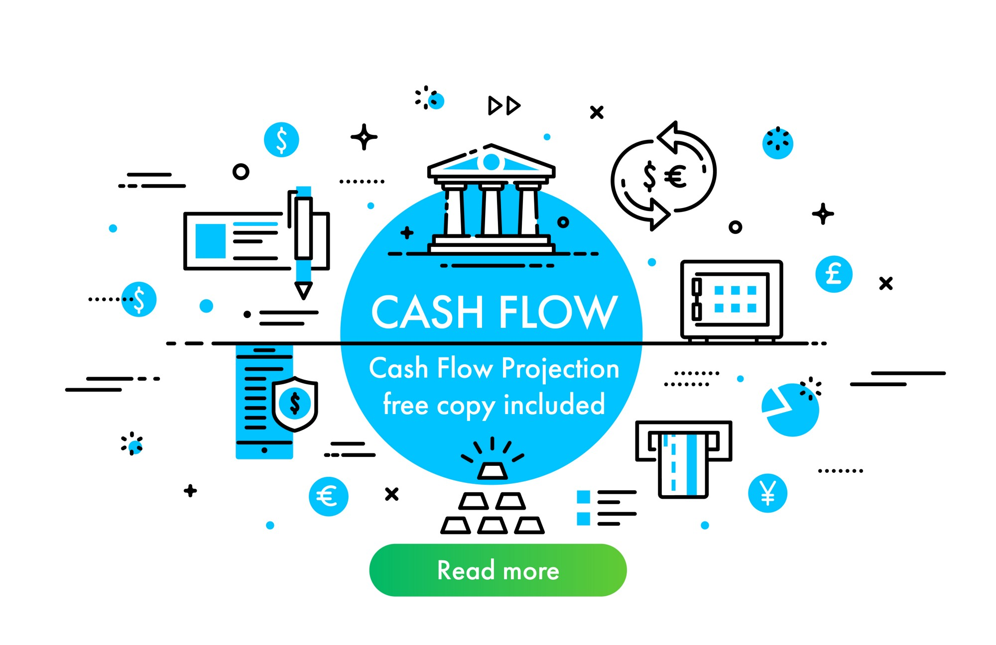 cash flow projection free copy included