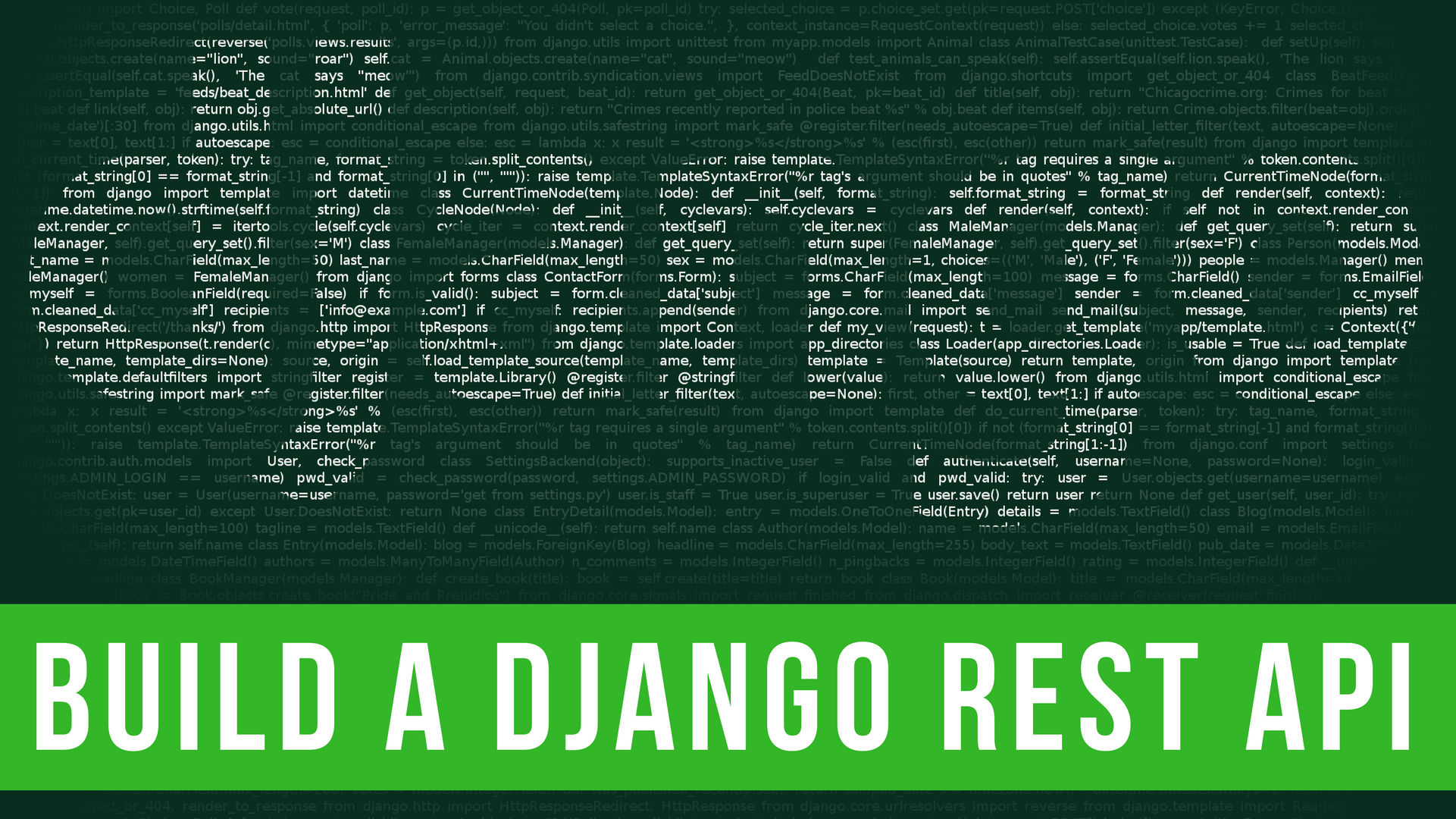 create a django api in under 20 minutes – codeburst