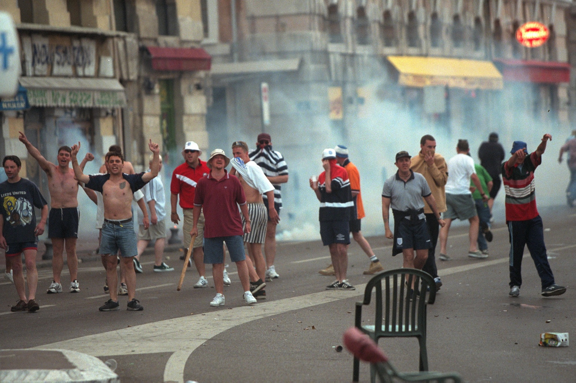 british soccer hooligans exported fan violence and this