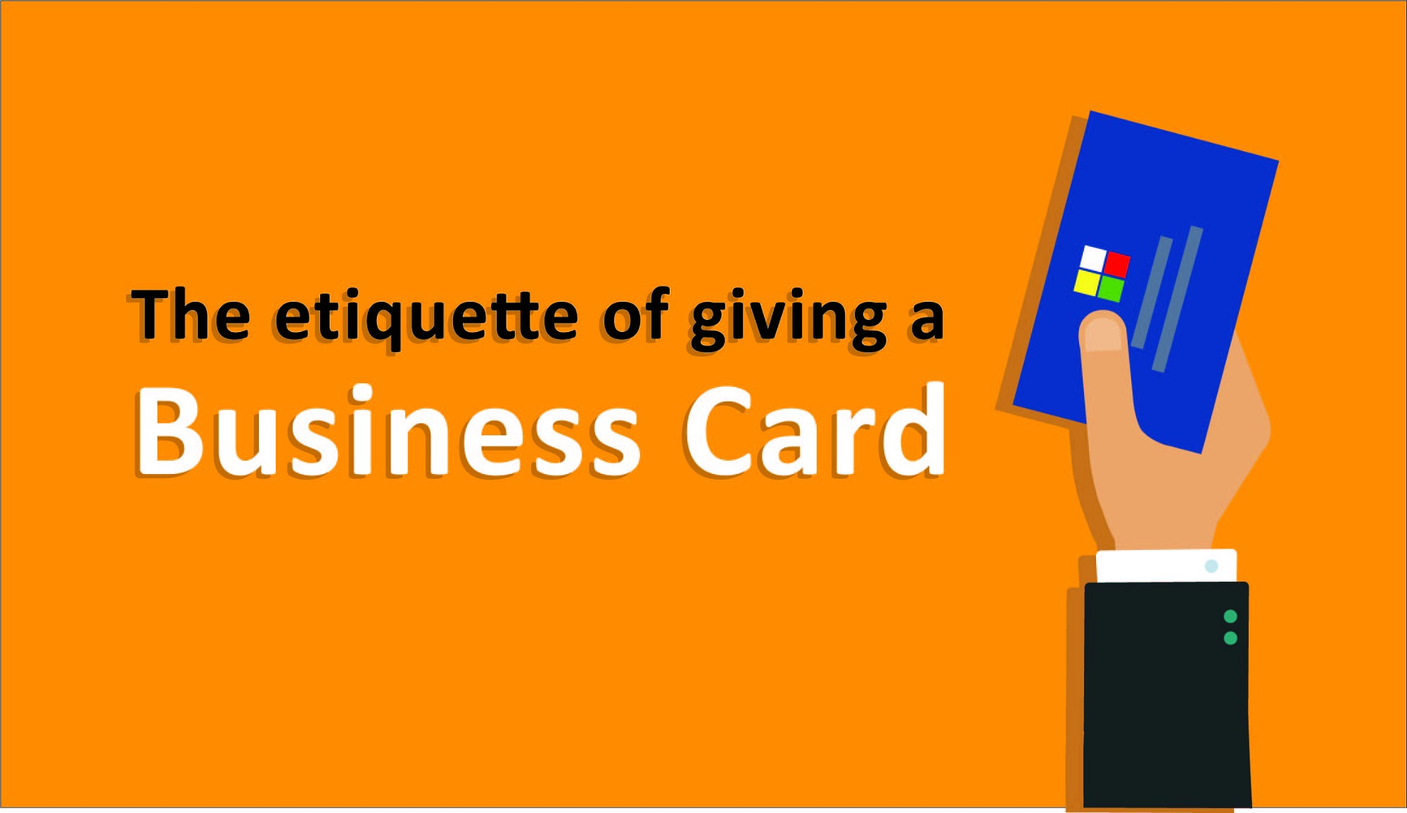 the etiquette of giving a business card – print print – medium
