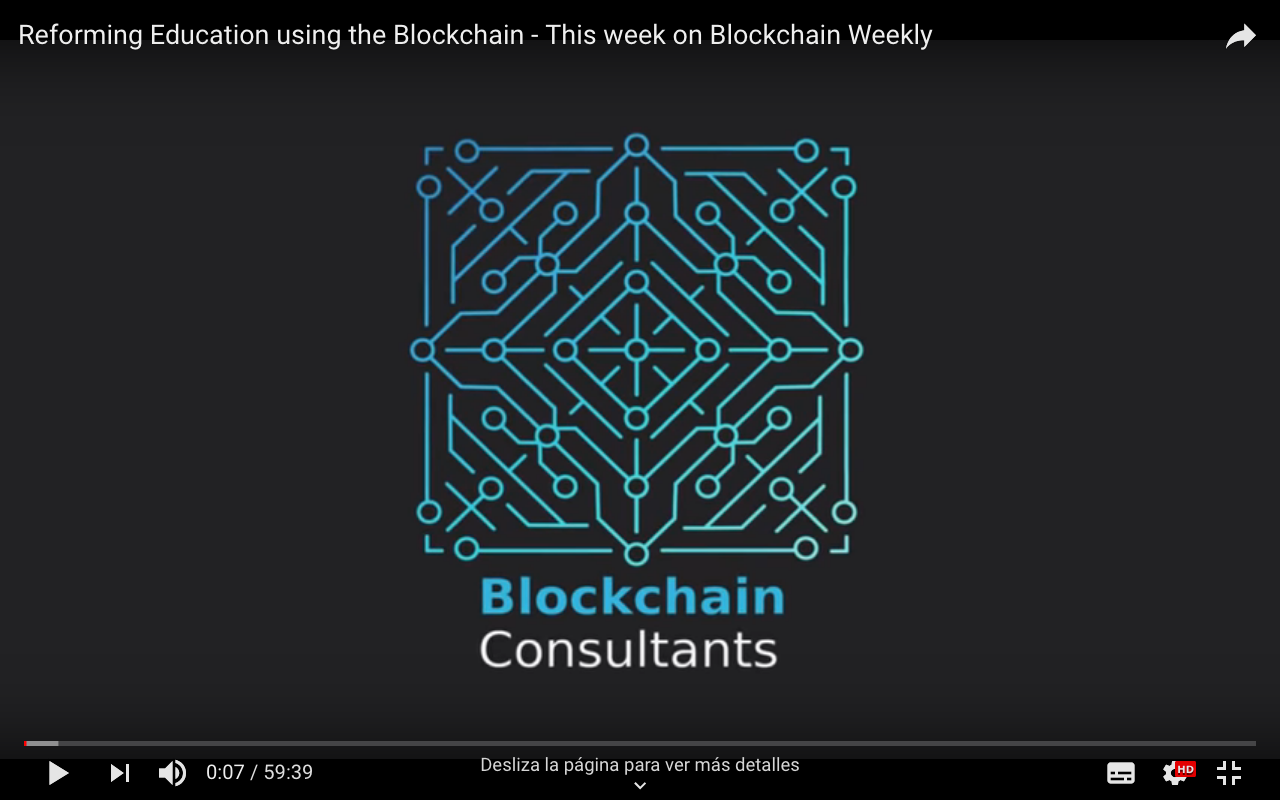 Reforming Education using the Blockchain — This week on Blockchain Weekly