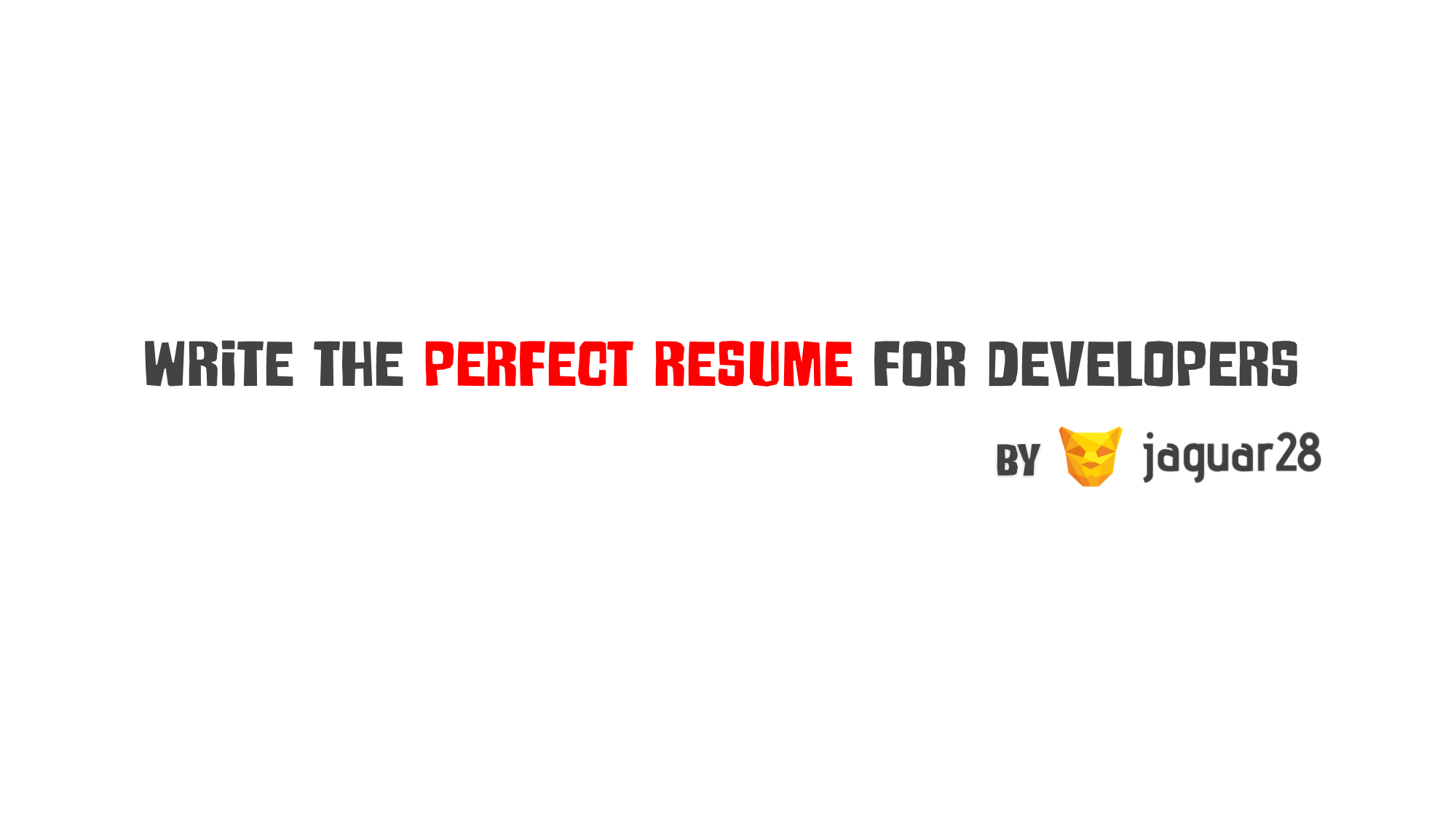 Write The Perfect Resume For Developers