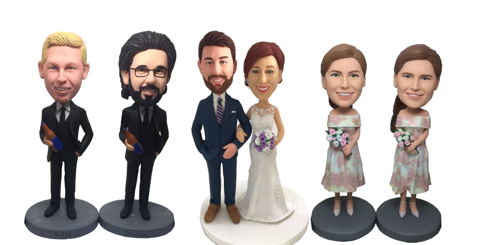 Unique Cake Topper is the New Trend in 2018 Custom Wedding Cake