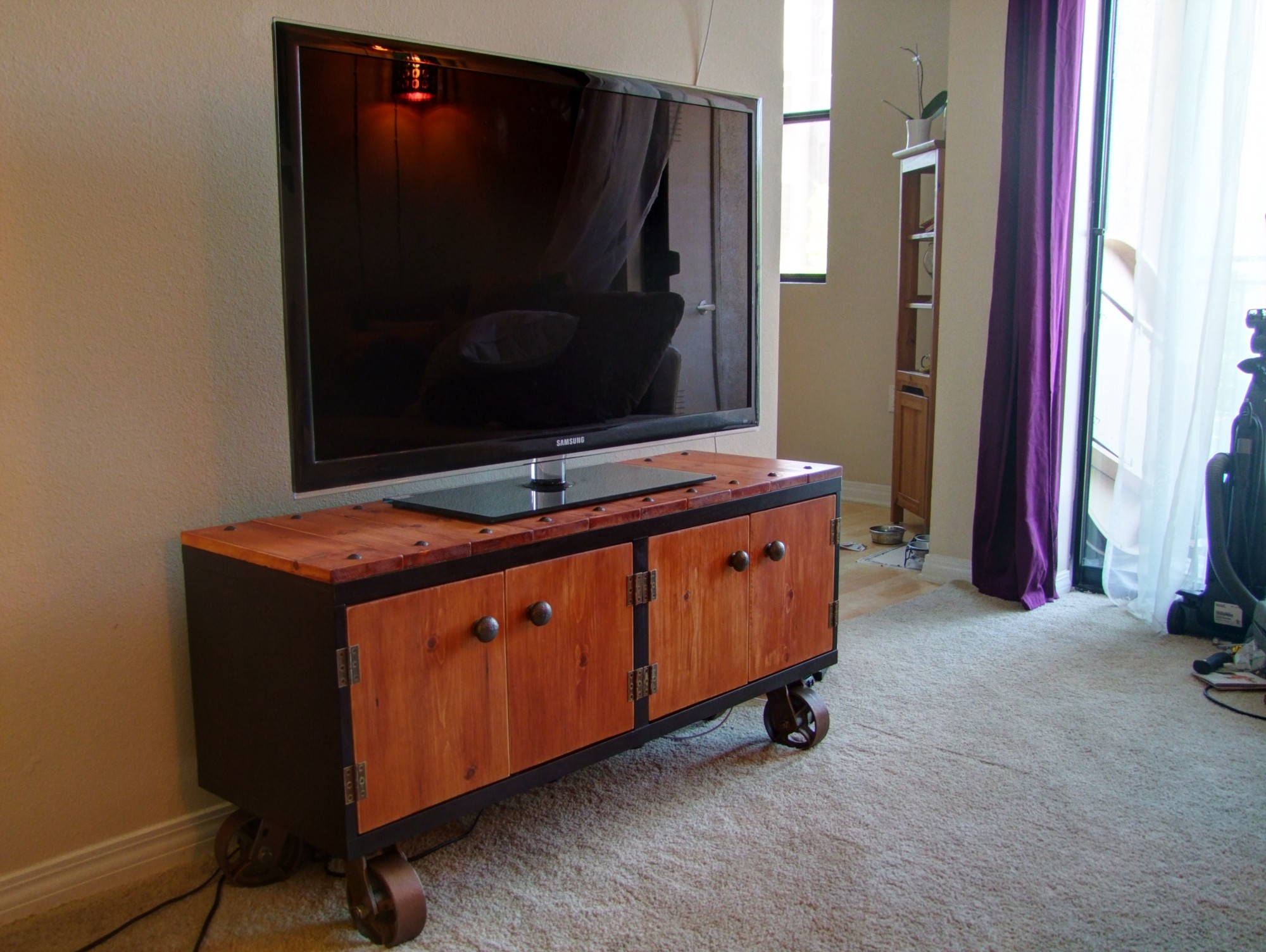 diy industrial tv stand ikea hack step by step philippe berry medium. Black Bedroom Furniture Sets. Home Design Ideas