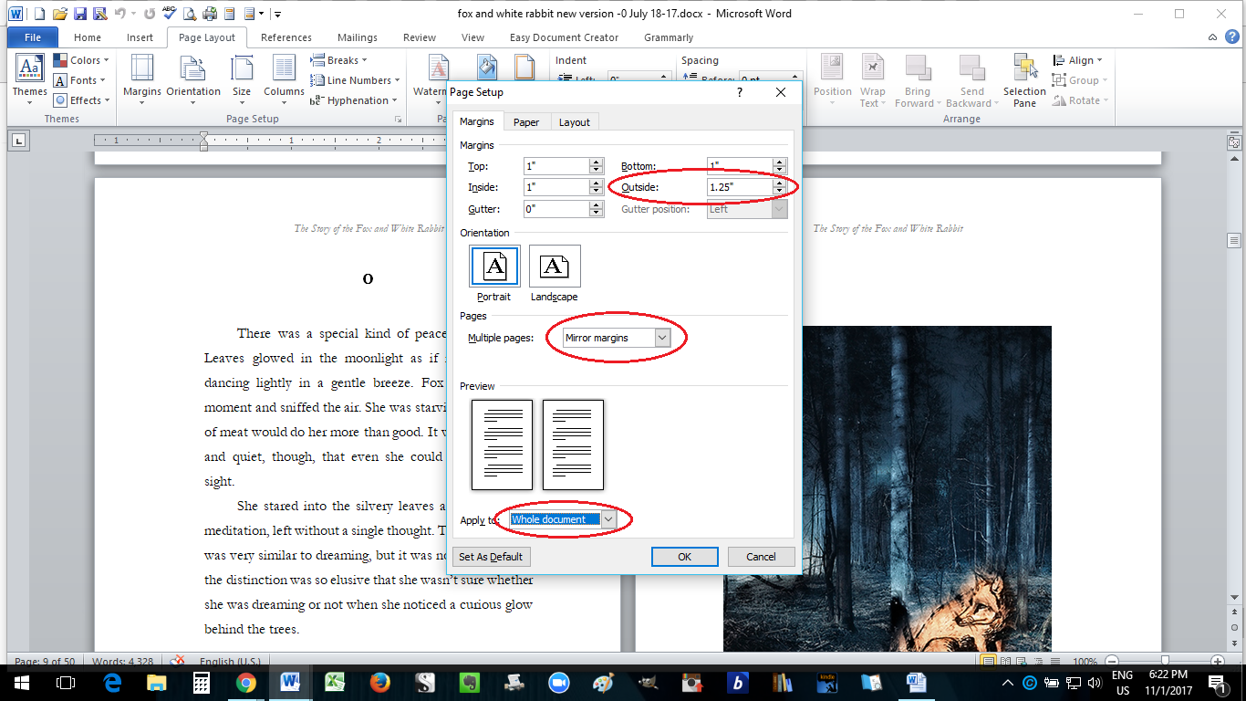 Paperback formatting in ms word how to self publish a book part 10 setting the gutter buycottarizona Choice Image