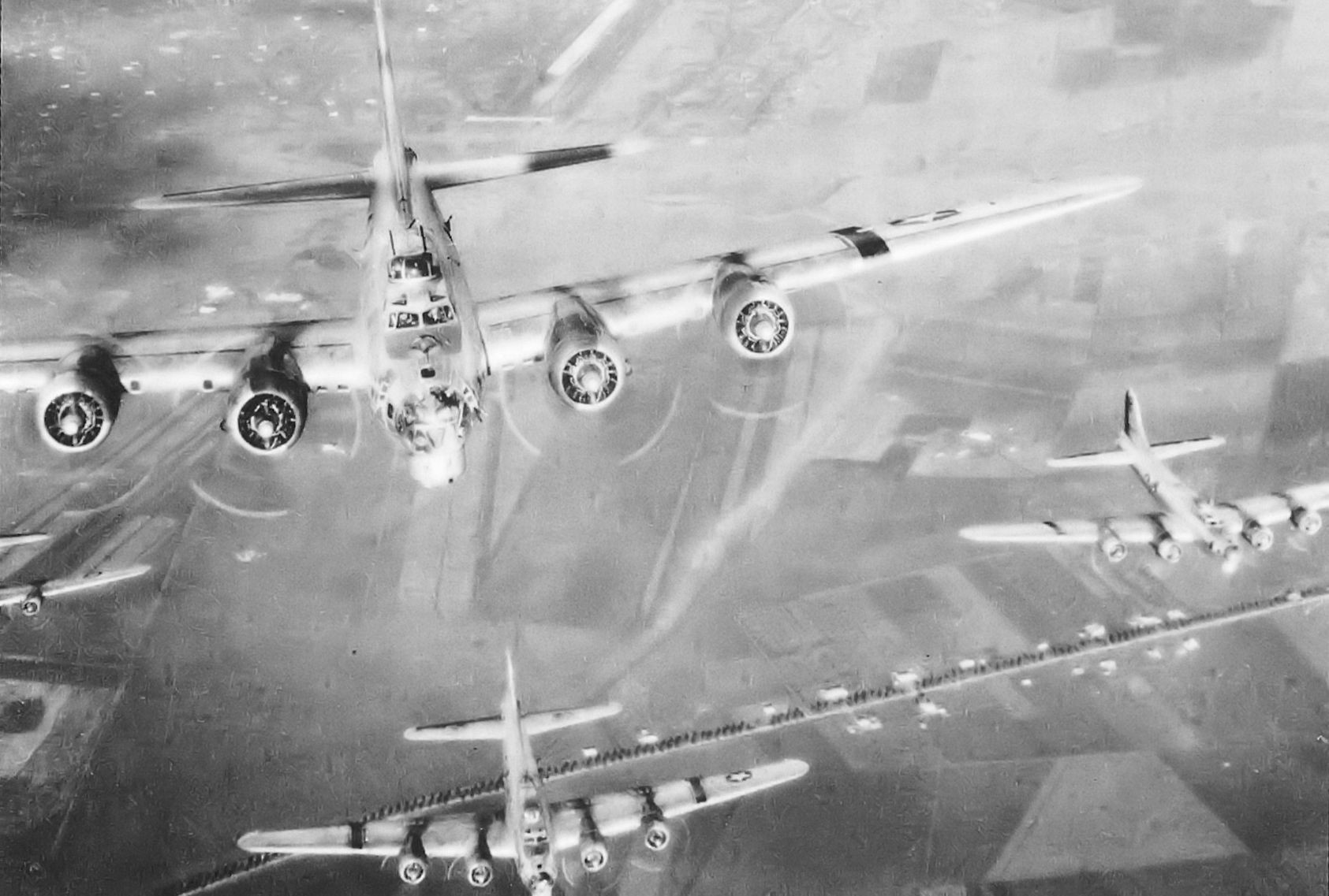 In 1943 piloting a flying fortress over italy was one for Italy b b