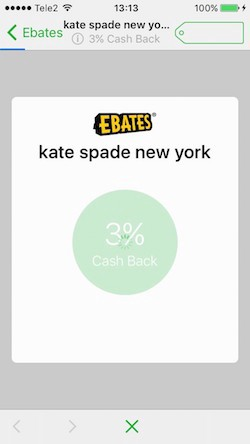Built-in browser loading screen (Ebates)