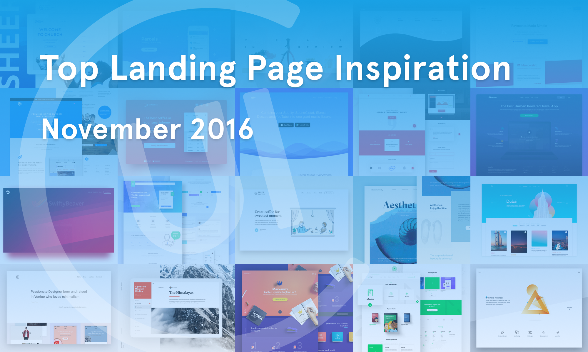 Top Landing Page Inspiration — November 2016 – Collect UI Design, UI ...