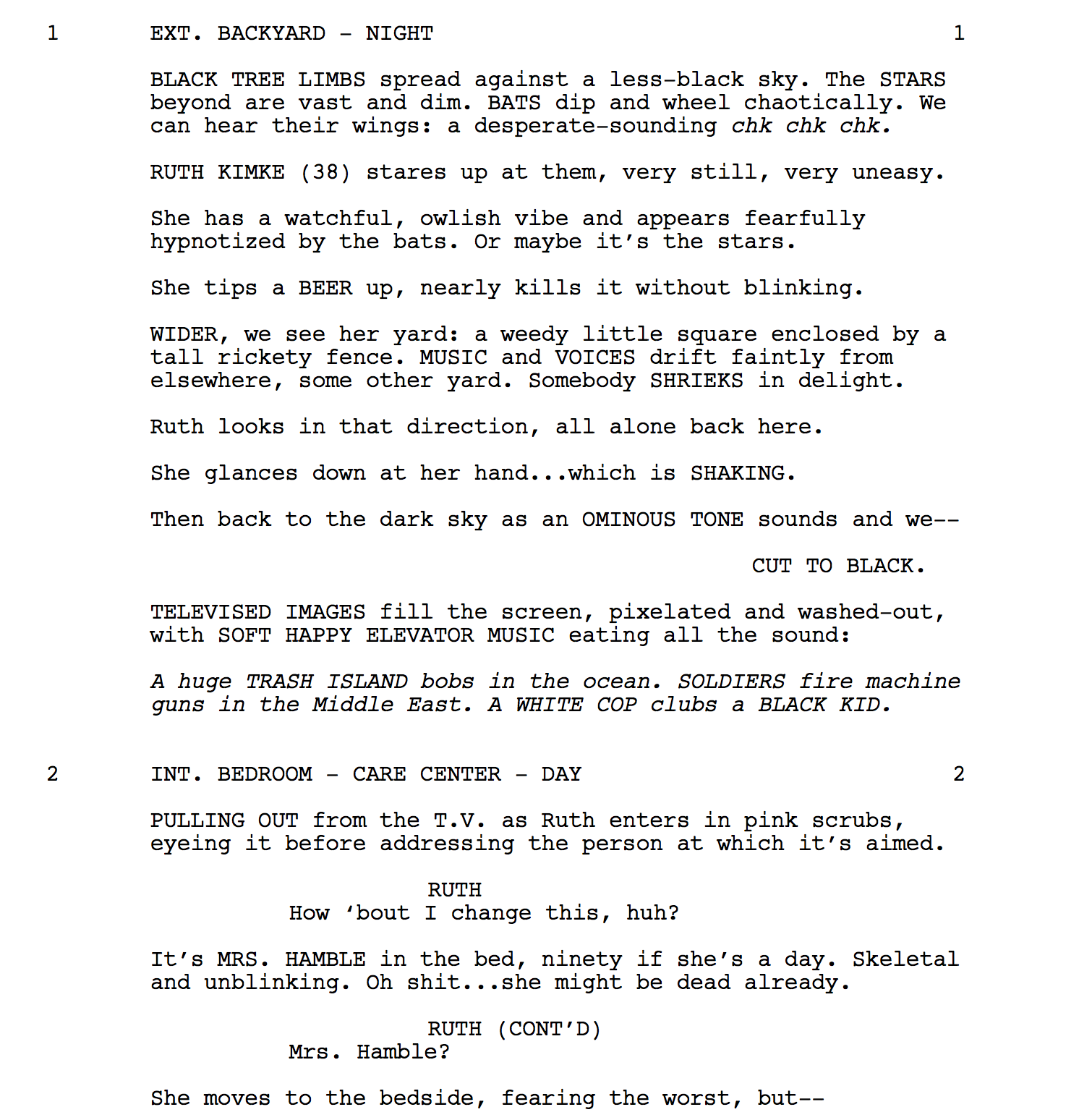 Anatomy of an Opening Scene: I DON\'T FEEL AT HOME IN THIS WORLD ANYMORE.