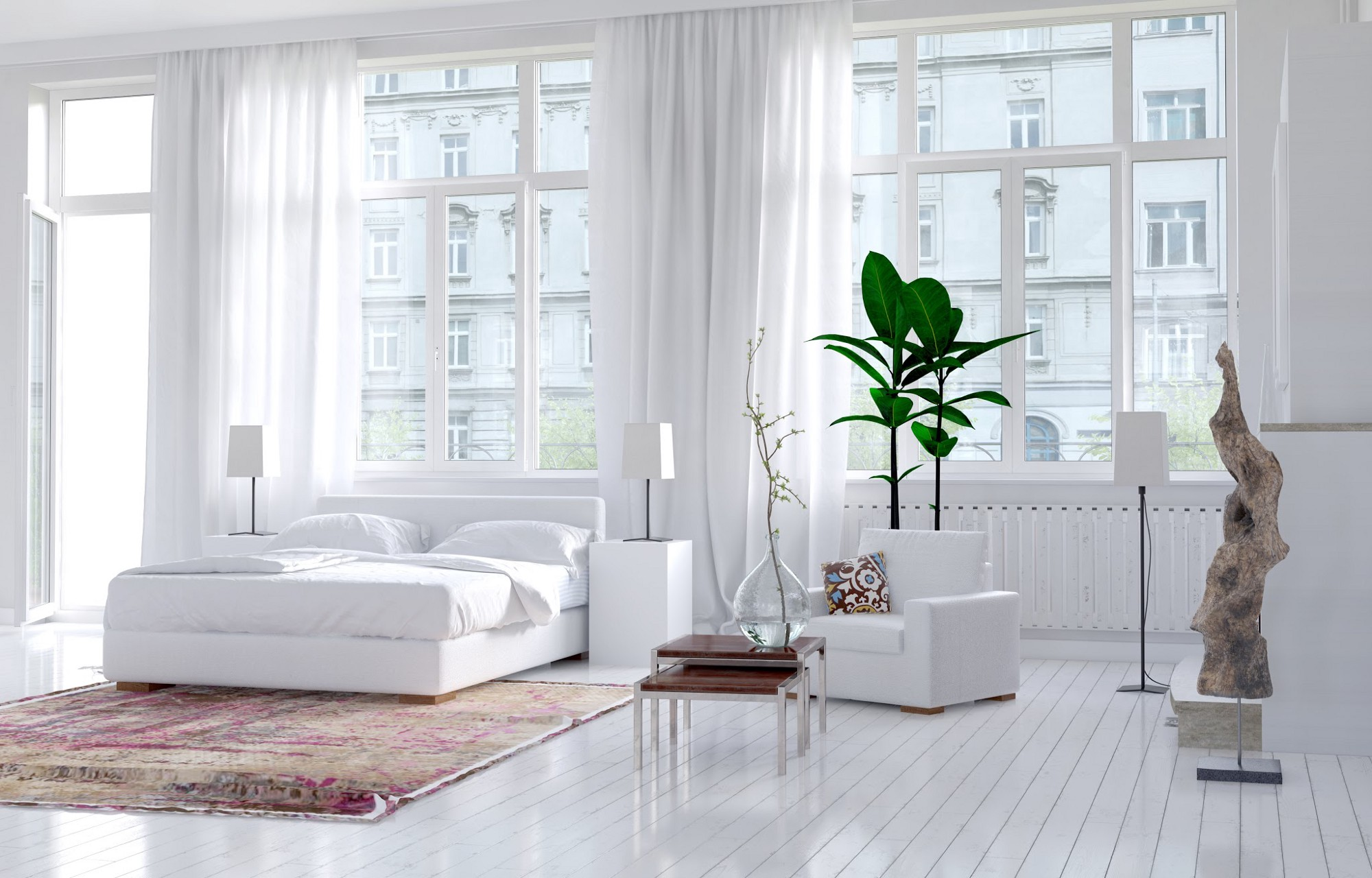 White is freshness purity and transformation of