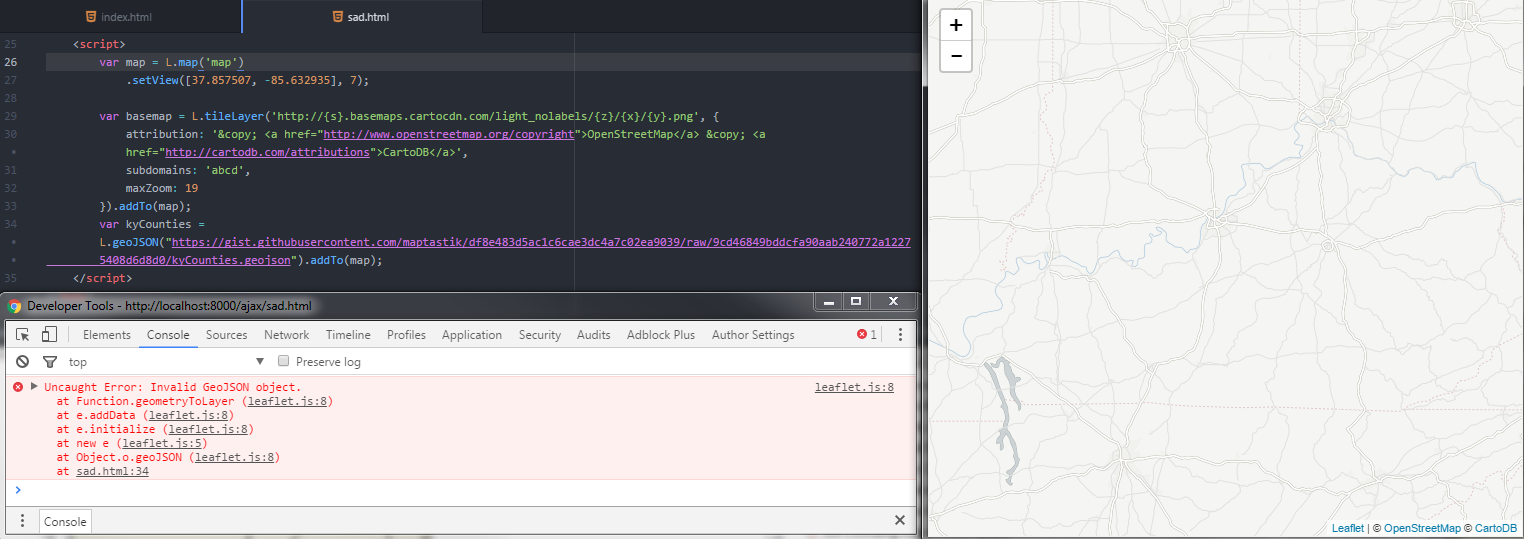Loading External GeoJSON Another Way To Do It With JQuery - Us counties json