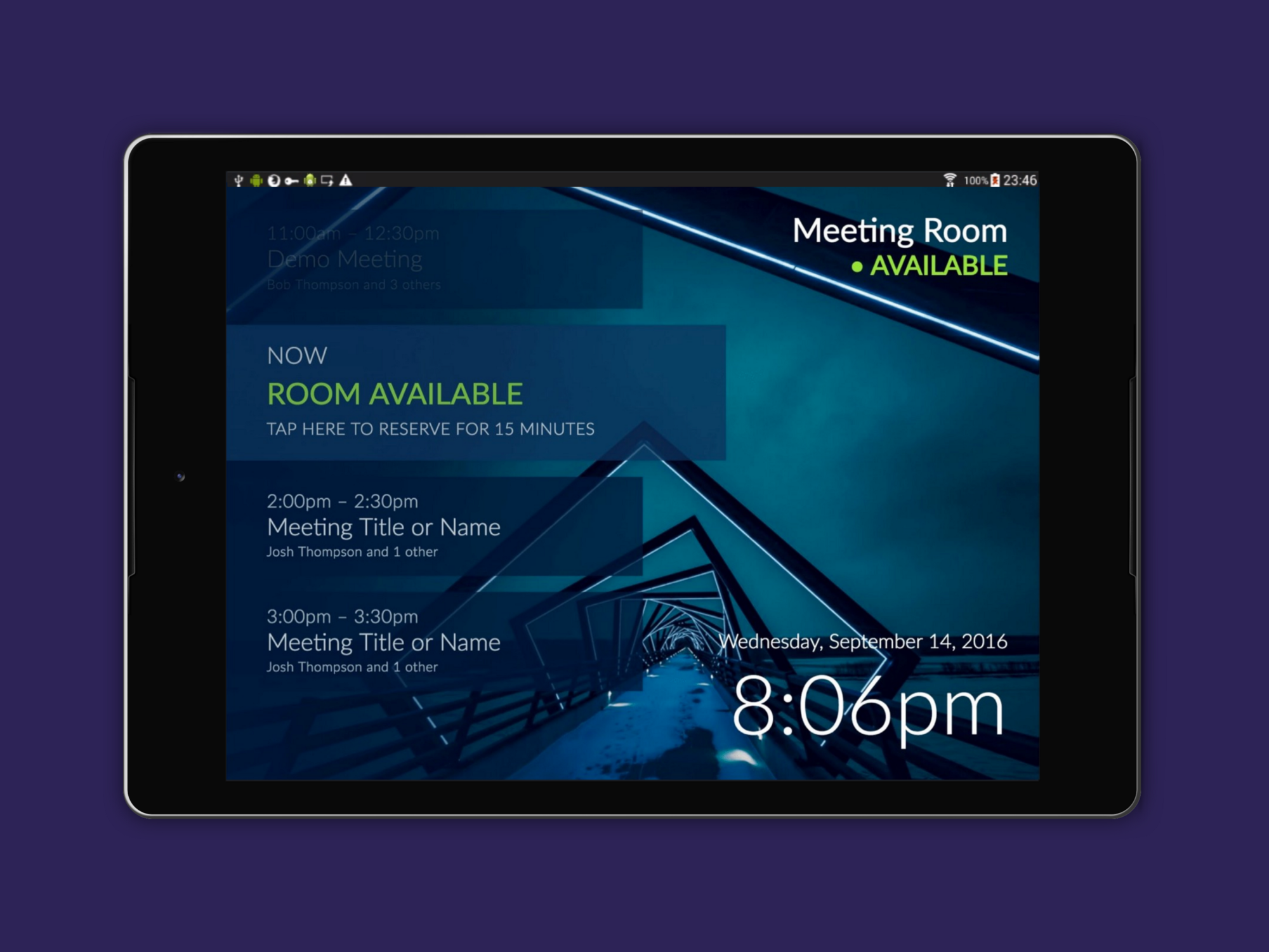 How To Add A Meeting Room Display To Office 365 Android Tablets
