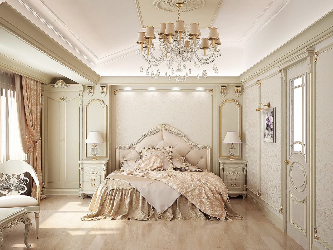 Classy elegant traditional bedroom design