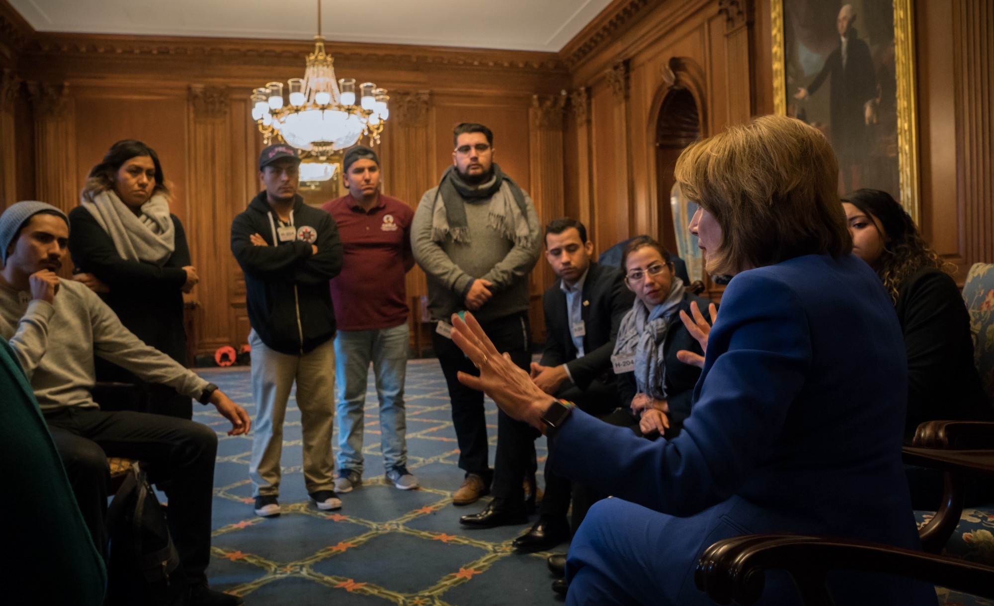 CHIRLA DREAMers Stopped By The Office To Share Their Stories And To Hear  The Work House Democrats And Leader Pelosi Are Doing To Save DACA.