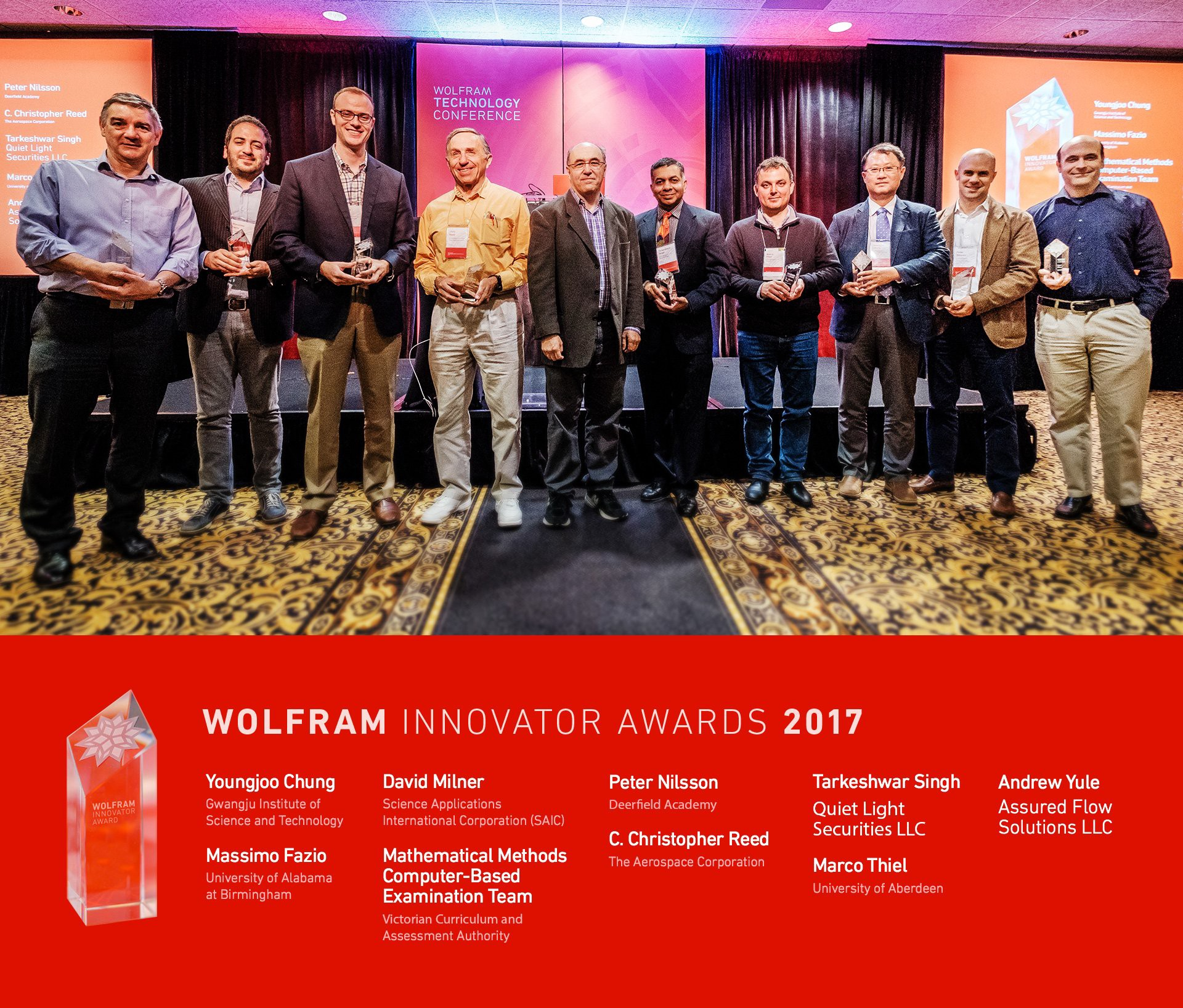 Wolfram Technology Conference Day 4 Innovator Award Winners And