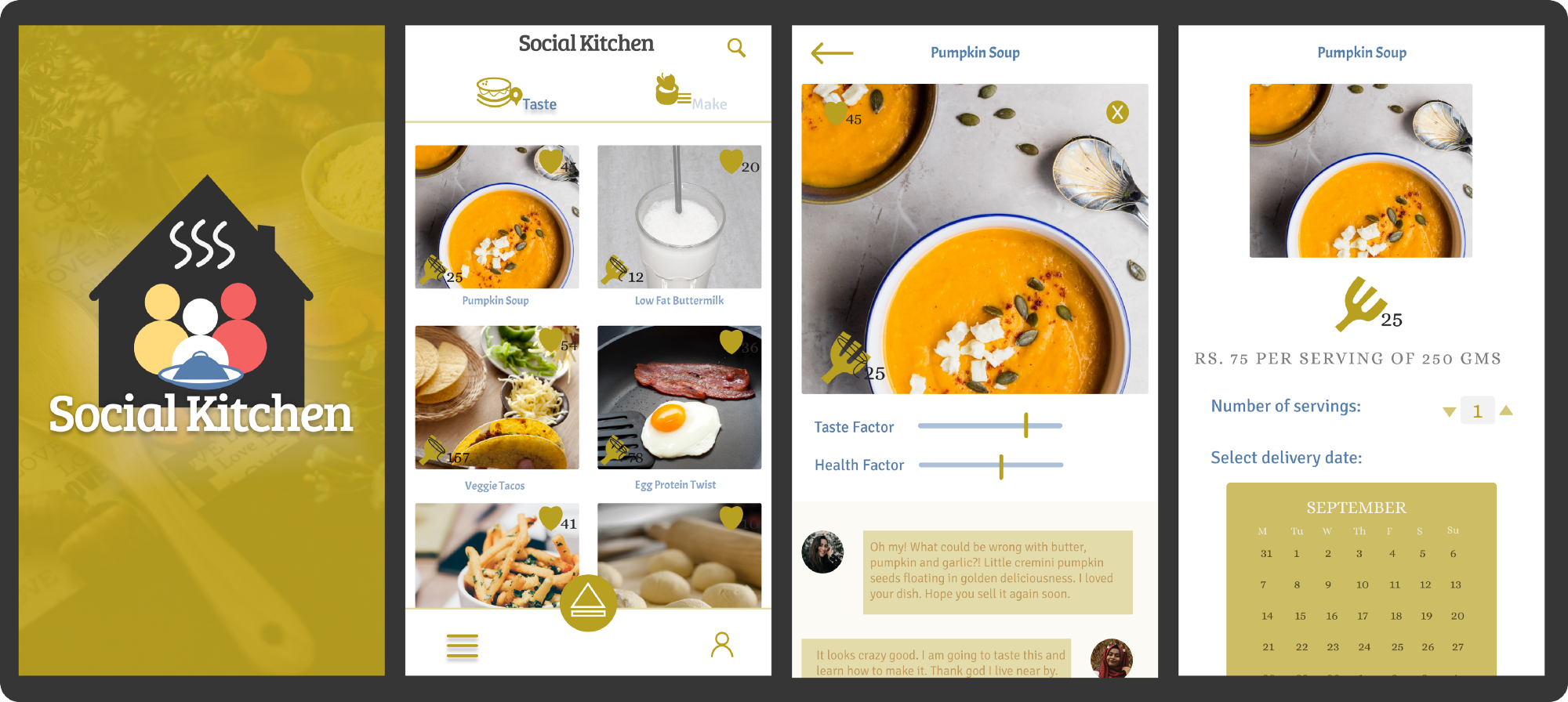 Social kitchen an app that increases your culinary confidence ux in designing the frames i gained knowledge on how to make icons logos and design components that i can use repeatedly in figma forumfinder Image collections