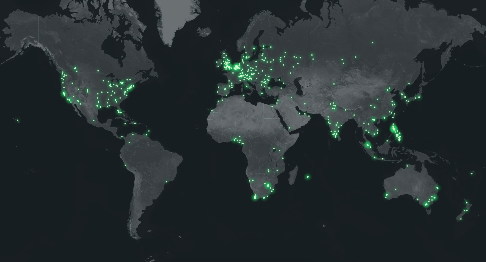 Heatmap showing lottery entries by city