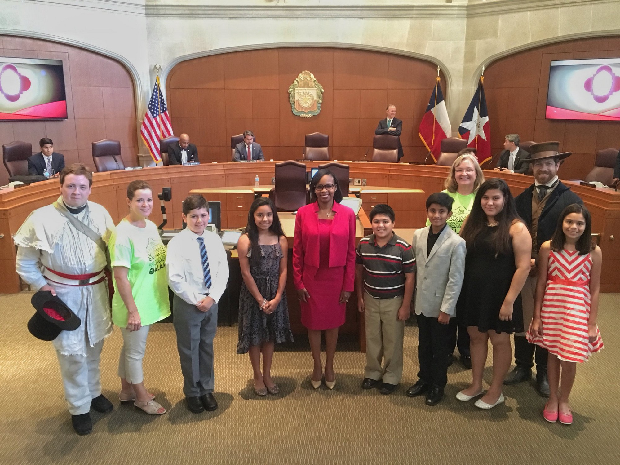 2016 alamo summer camp scholarship essay winners the alamo medium or ivy r taylor honored the six scholarship winners at the san antonio city council ceremonials meeting on 14 2016 photo from or ivy taylor s