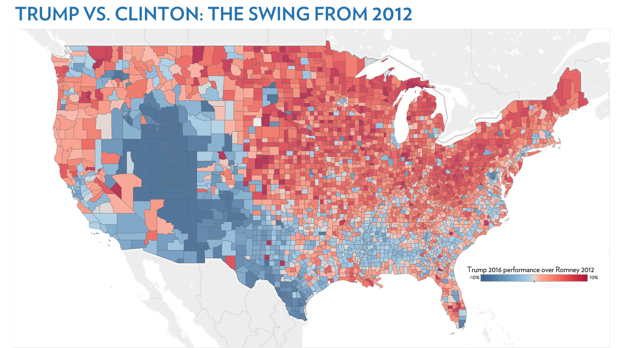 Mapping The Demography Of The Election Echelon Indicators 2016 Us Presidential Election Map By County