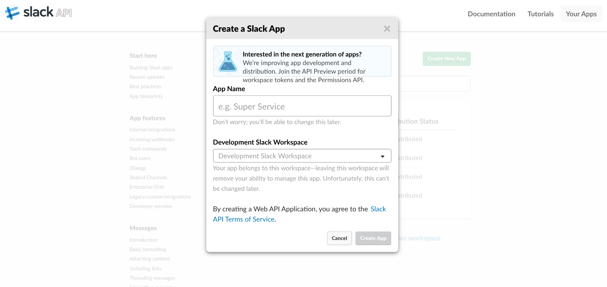 Creating and configuring a slack app chatbots life malvernweather Choice Image