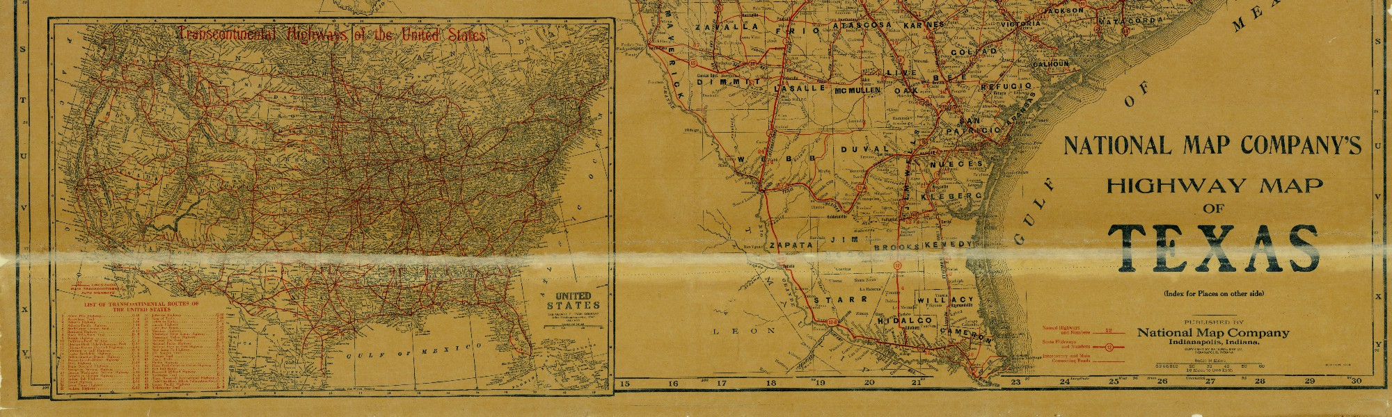 National Map Companys Highway Map Of Texas Save Texas - Texas highway map