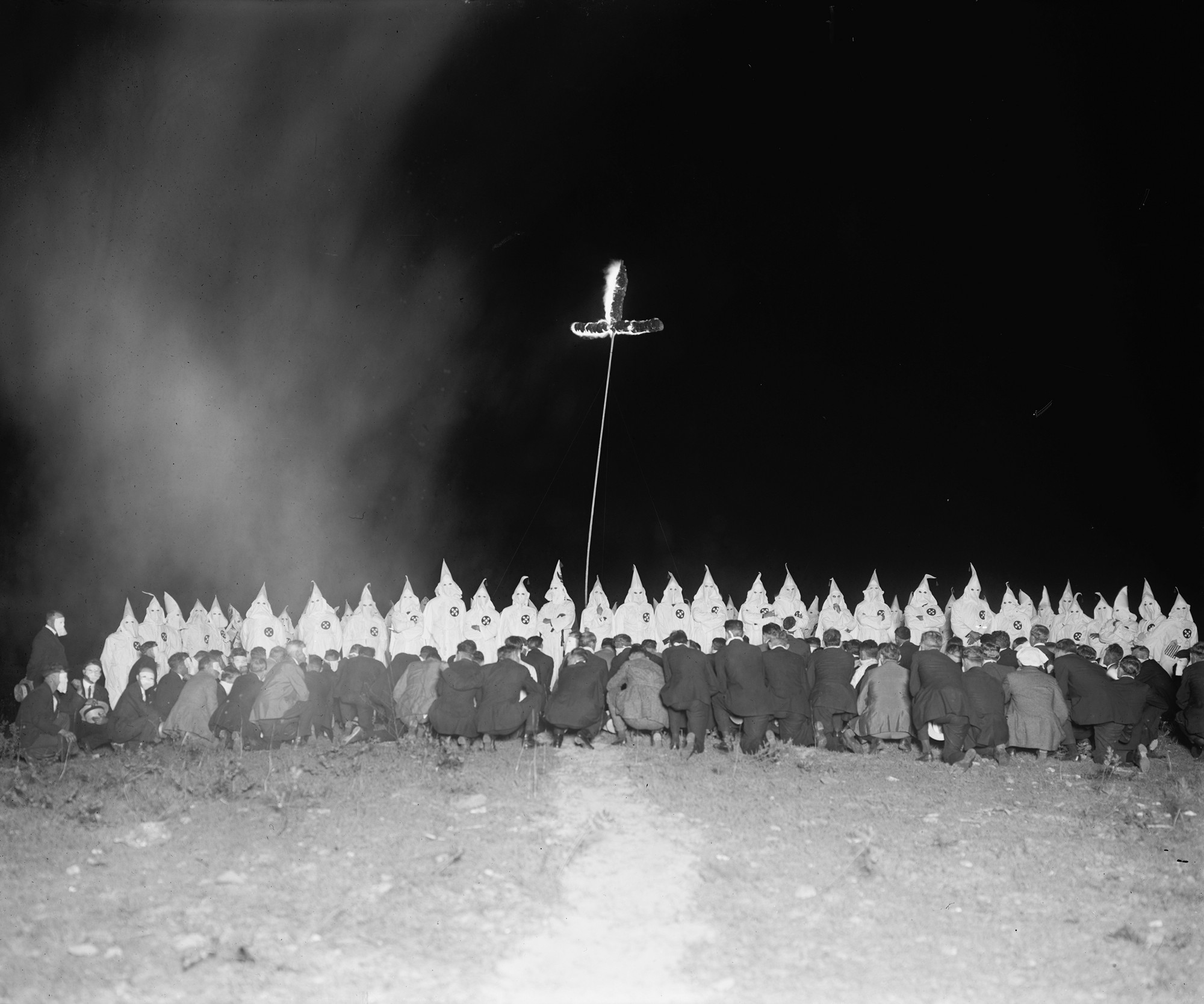 Why does the Ku Klux Klan burn crosses? They got the idea from a movie.