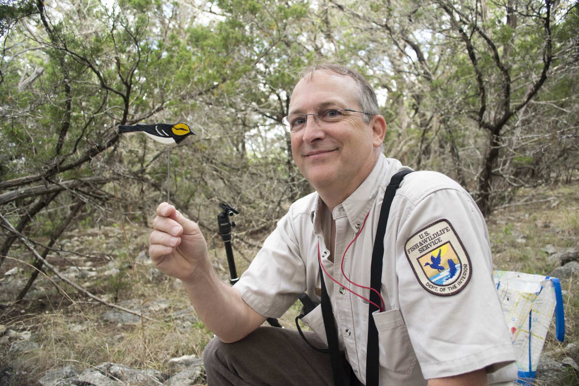 Backpacks for birds tell us where they spend their winters biologist jim mueller with decoy for mist netting photo abra zobelusfws sciox Image collections