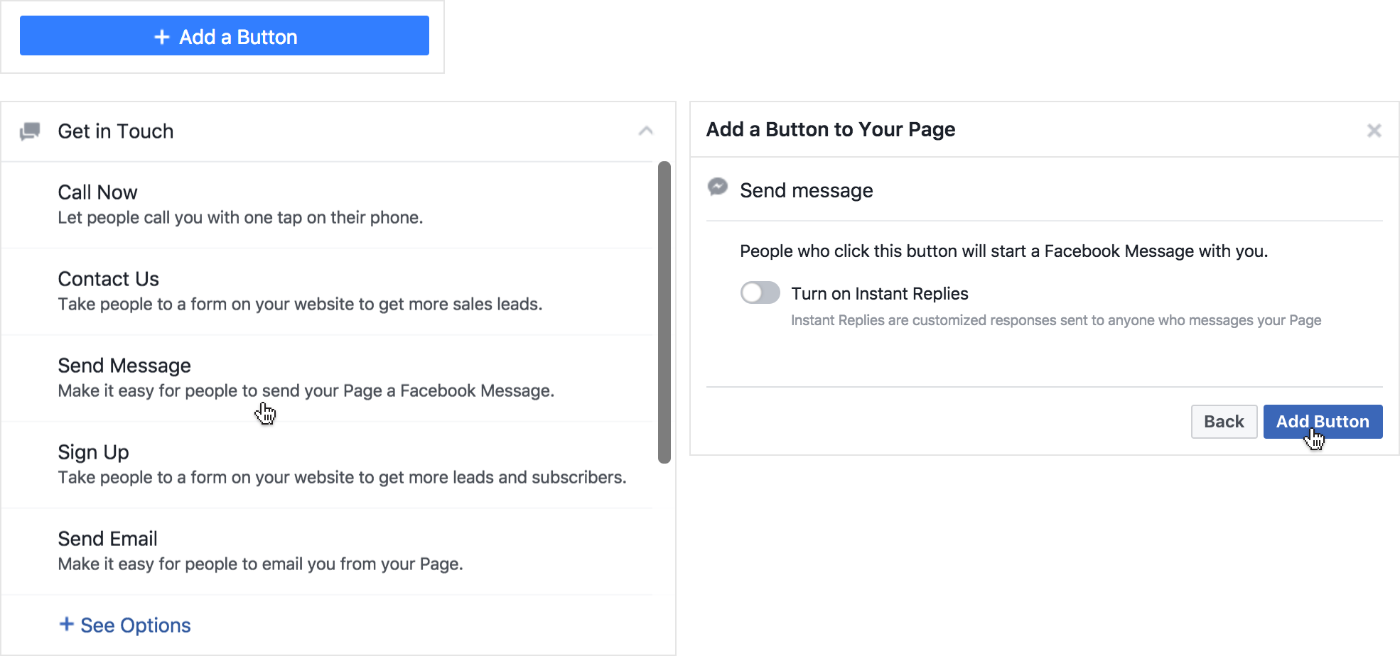 Master your messenger bot getting your bot discovered adding a message button on your facebook page from facebook buycottarizona