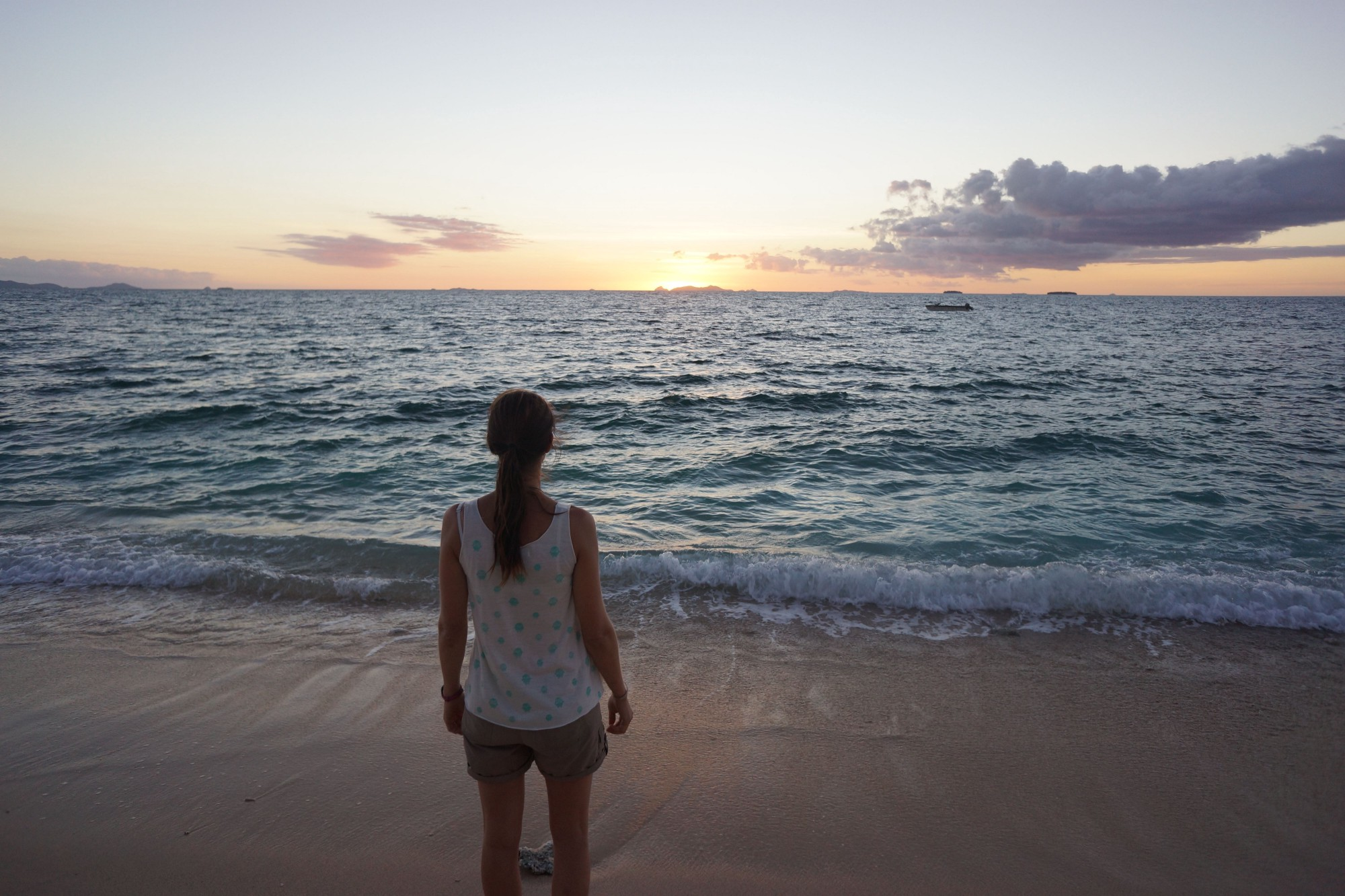 My Wife Watching The Sun Go Down, From A Small Island In The South Pacific  (near Fiji). Iu0027m The Photographer!