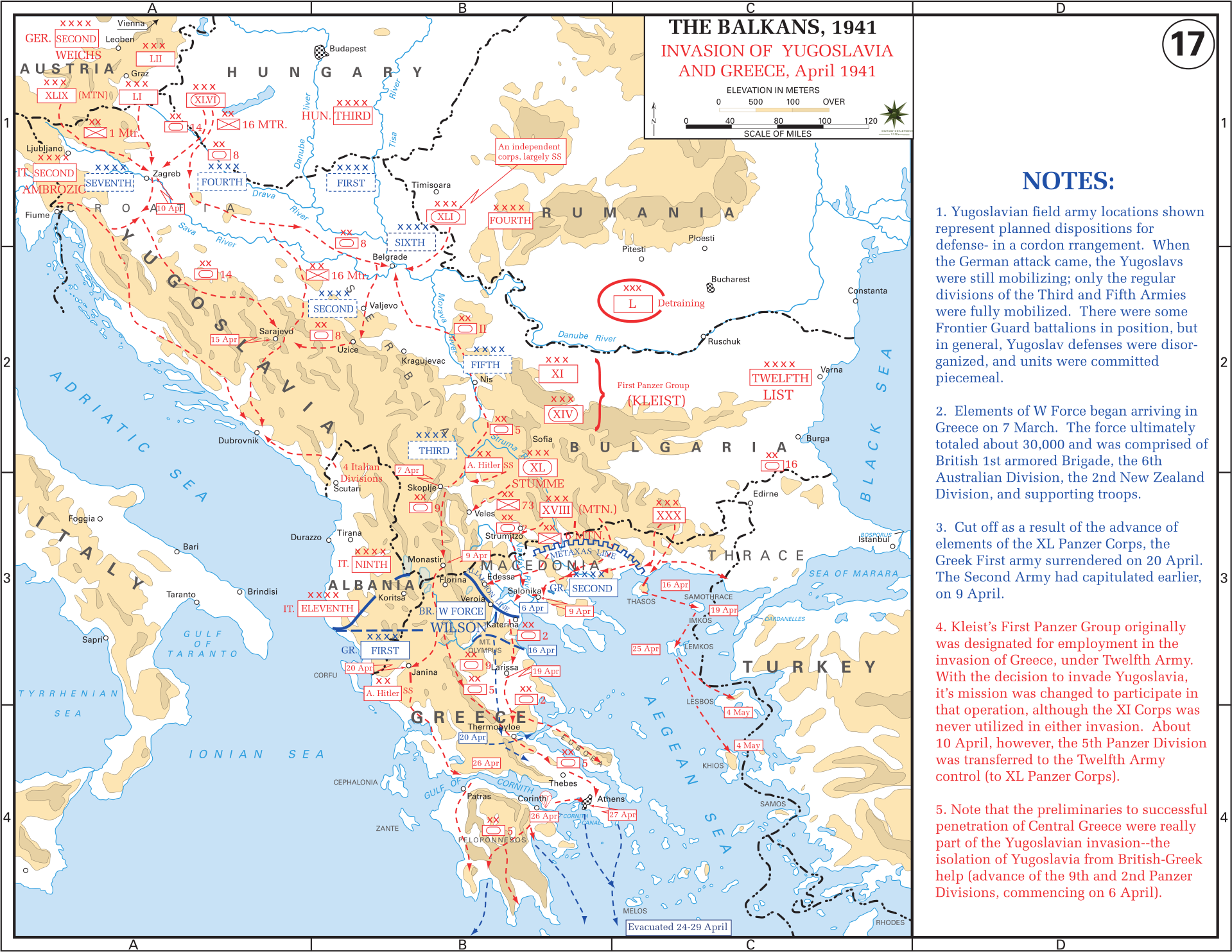 Southern front maps of world war ii inflab medium campaign in the balkans invasion of yugoslavia and greece april 1941 gumiabroncs Gallery
