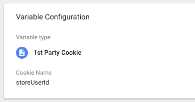1st Party Cookie User ID variable