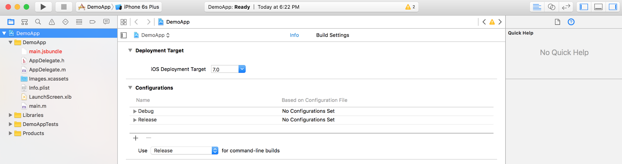 How To Set Up Multiple Schemes Configurations In Xcode For Your This Is The Basic Configuration Put Switch A If You Have Only 1 React Native Ios App