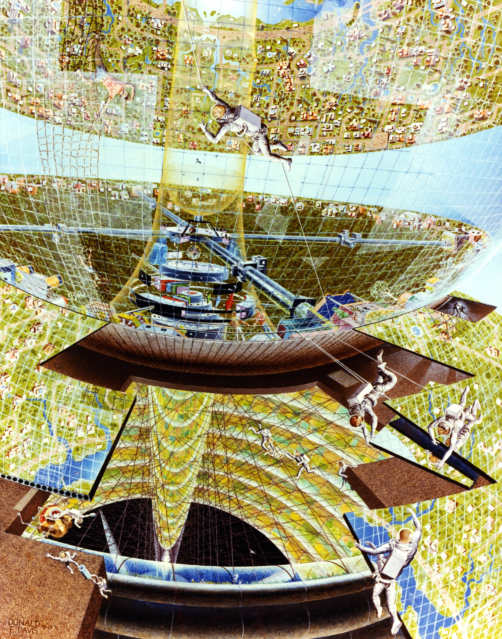 Three Visions of Human Space Settlement: 1970s