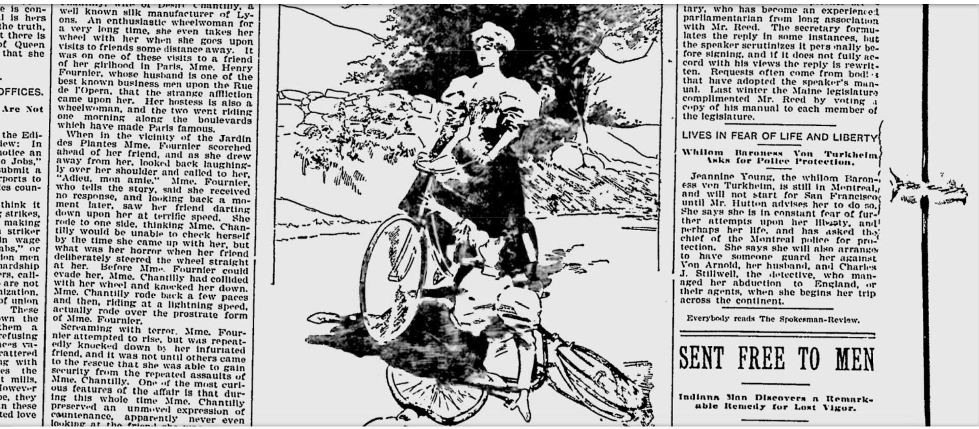 The piece suggested it wasn't just sartorial insanity cycling could trigger in women, but full blown psychopathy.