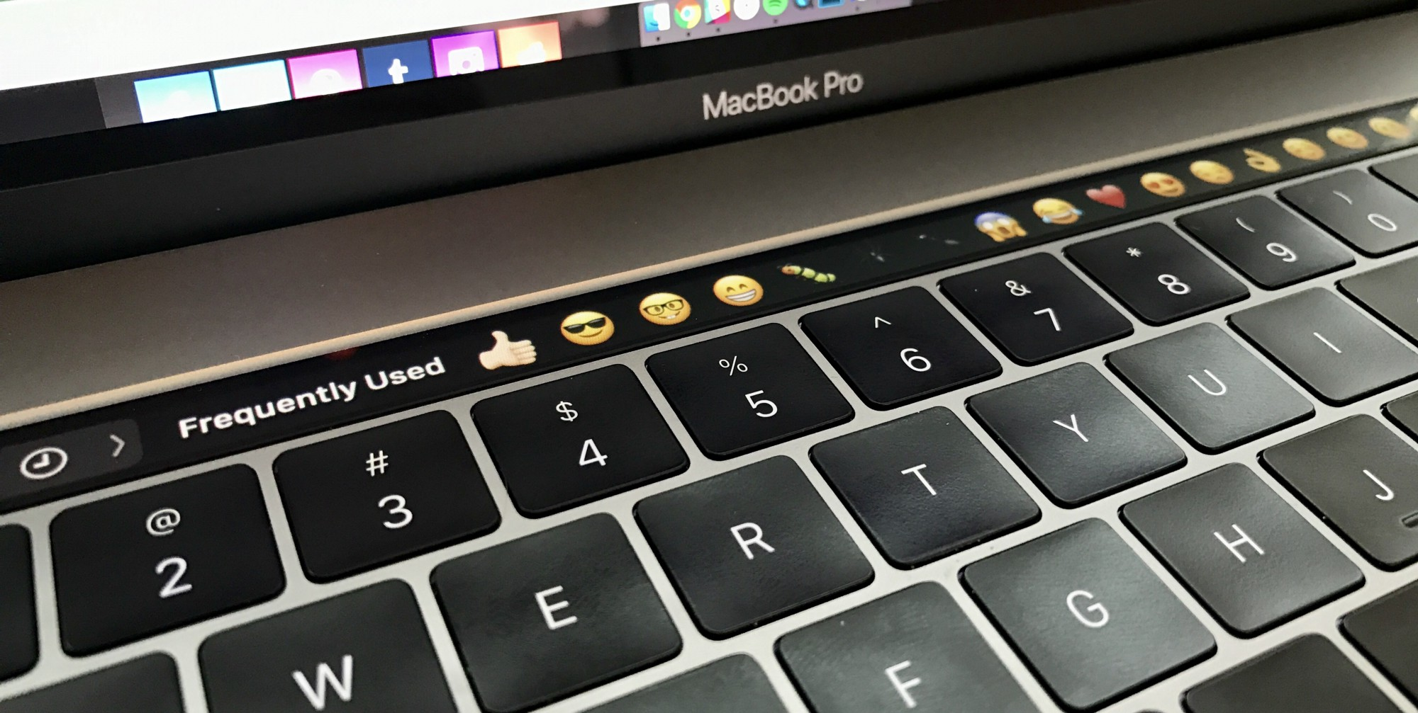 Touch Bar emojis on the MacBook Pro