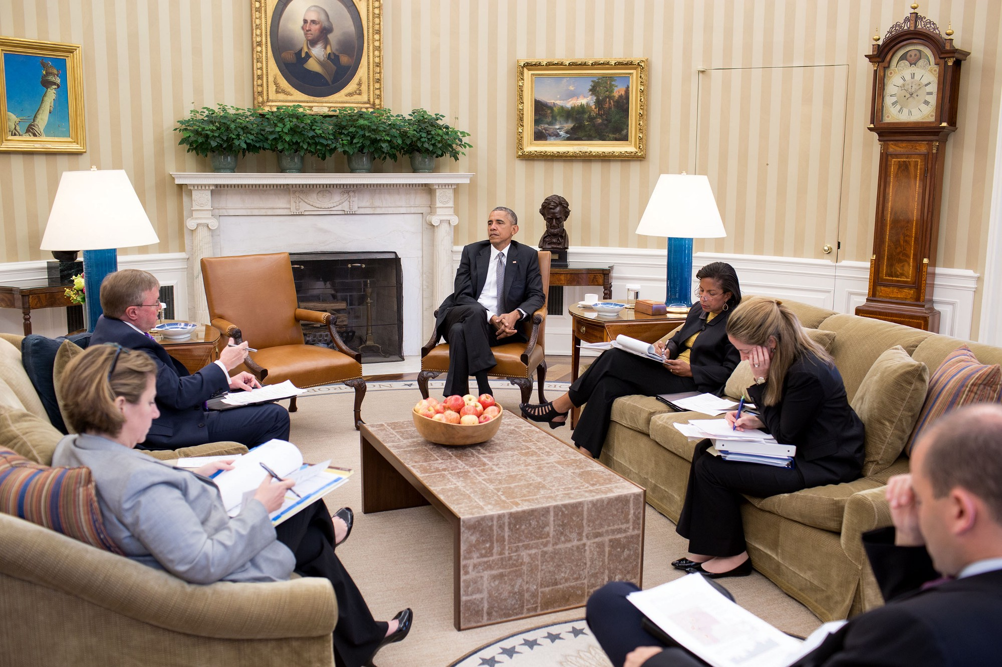 obama oval office. Behind The Lens: When President Heard News Of Supreme Court Decision On Affordable Care Act. Obama Receives Presidential Oval Office