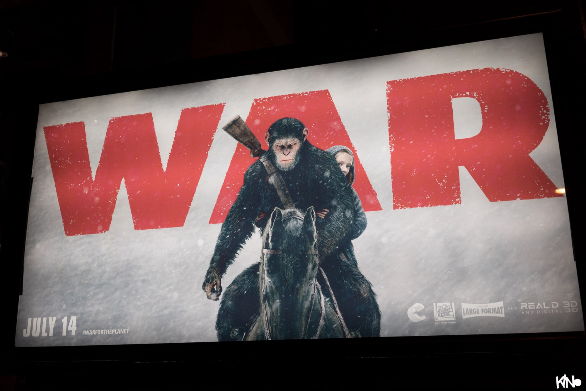 Planet of the Apes, War, Poster, NYC