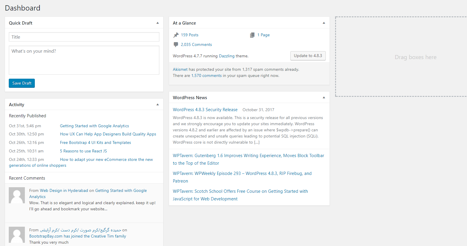 How to create a Responsive Admin Template using Light