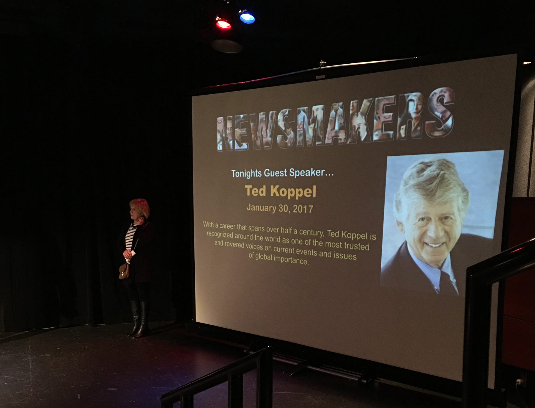 Ted Koppel as part of Lesher Center Newsmaker Series in Walnut Creek, CA