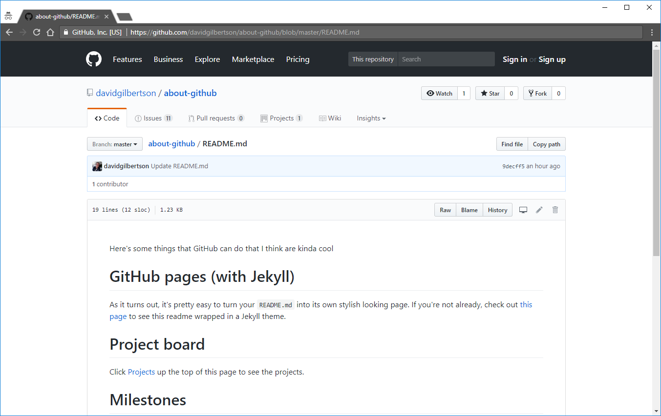 12 Cool Things You Can Do With Github Hacker Noon The Tone Control Looks A Little Odd But Seems To Work Well Here Are At Its Very Simplest Pages Jekyll Will Render Your Readmemd In Pretty Theme For Example Take Look My Readme Page From About