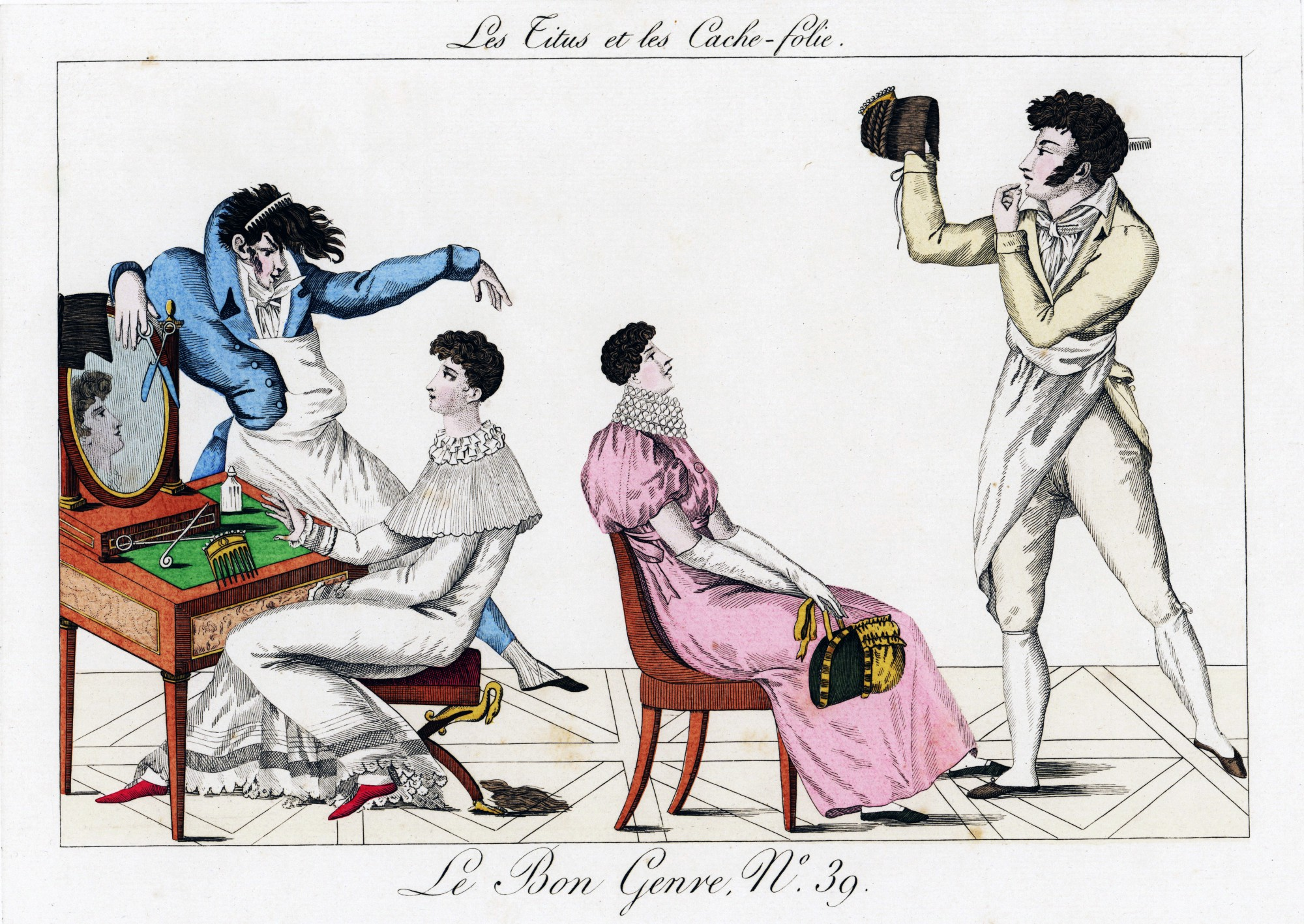 the protest haircut that defied the guillotine during the french women getting their hair done titus style paris 1817 pierre de la mesangere getty images