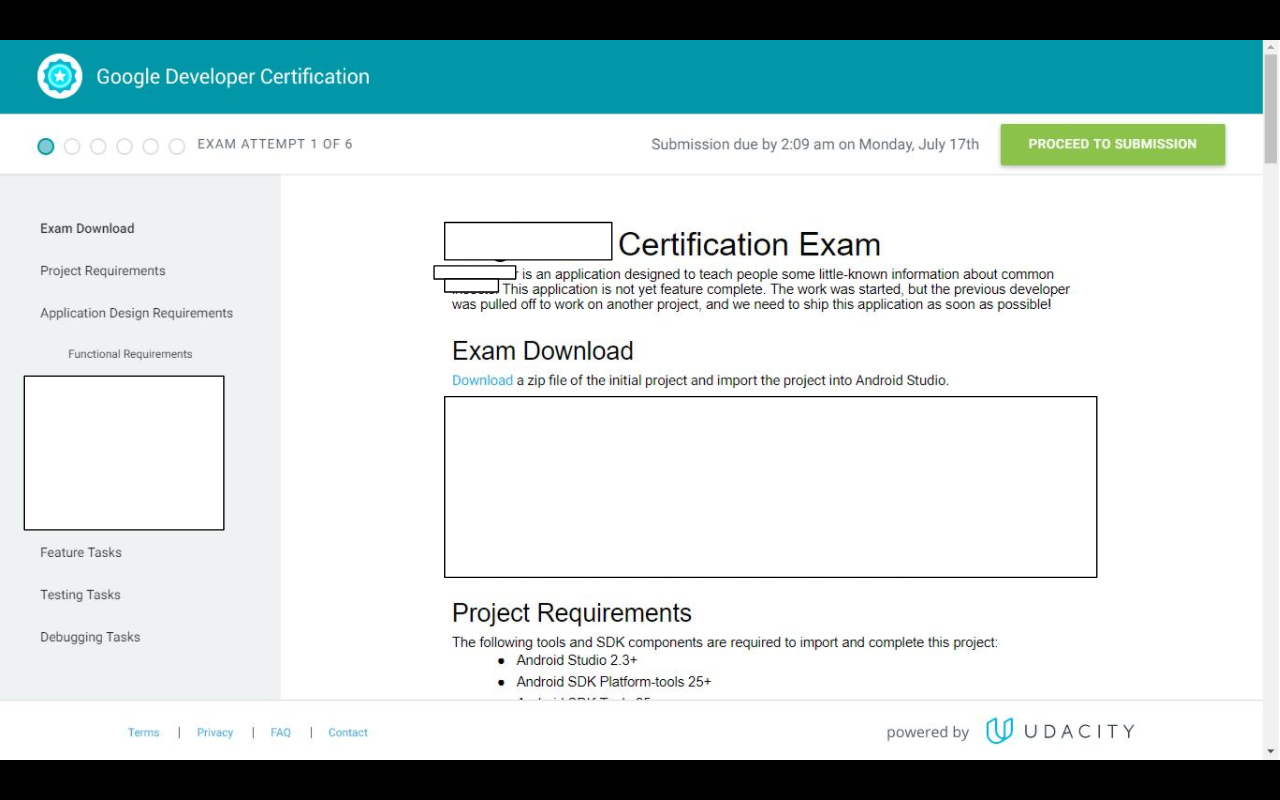 Google certified associate android developer exam walkthrough note images have been edited to hide exam specific data 1betcityfo Image collections