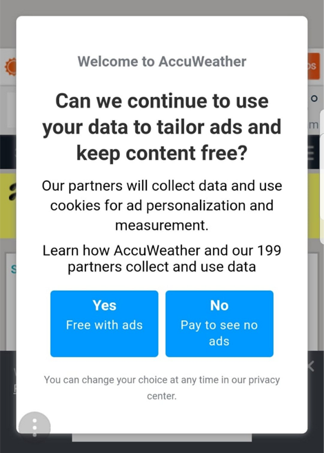 Is payment going to stop the cookies, the ads and the data collection or just one?